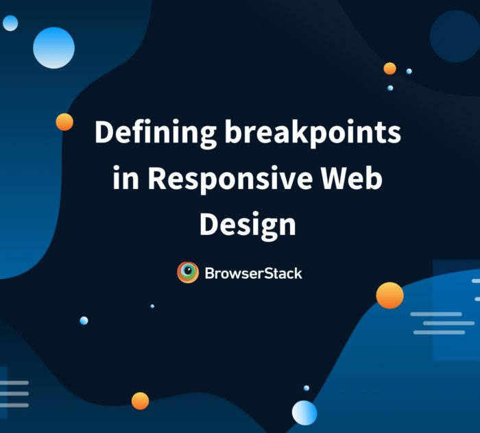 Responsive web design breakpoints