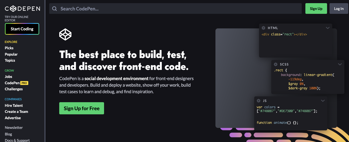 Online JavaScript Testing with Codepen