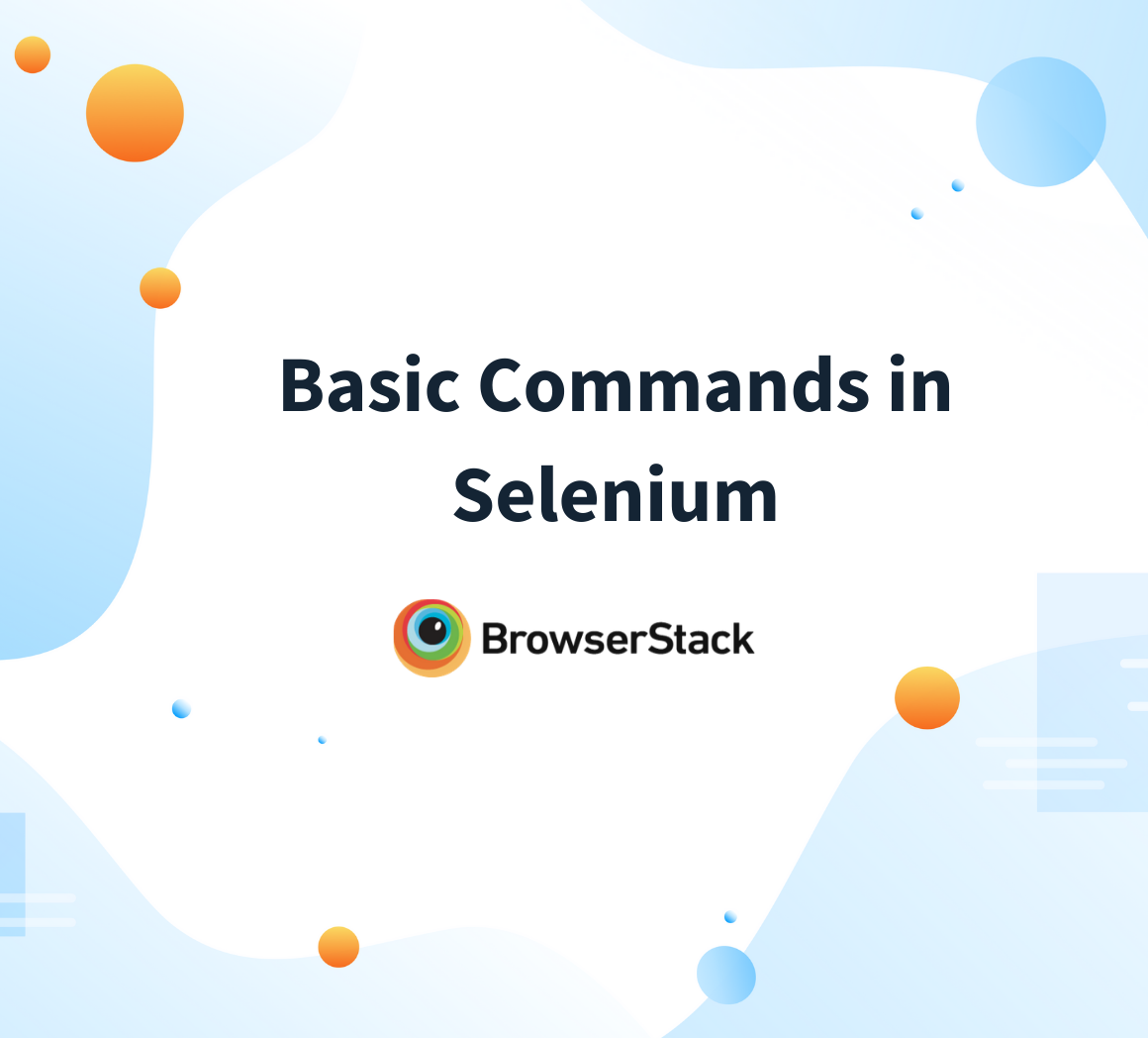 Basic Commands in Selenium