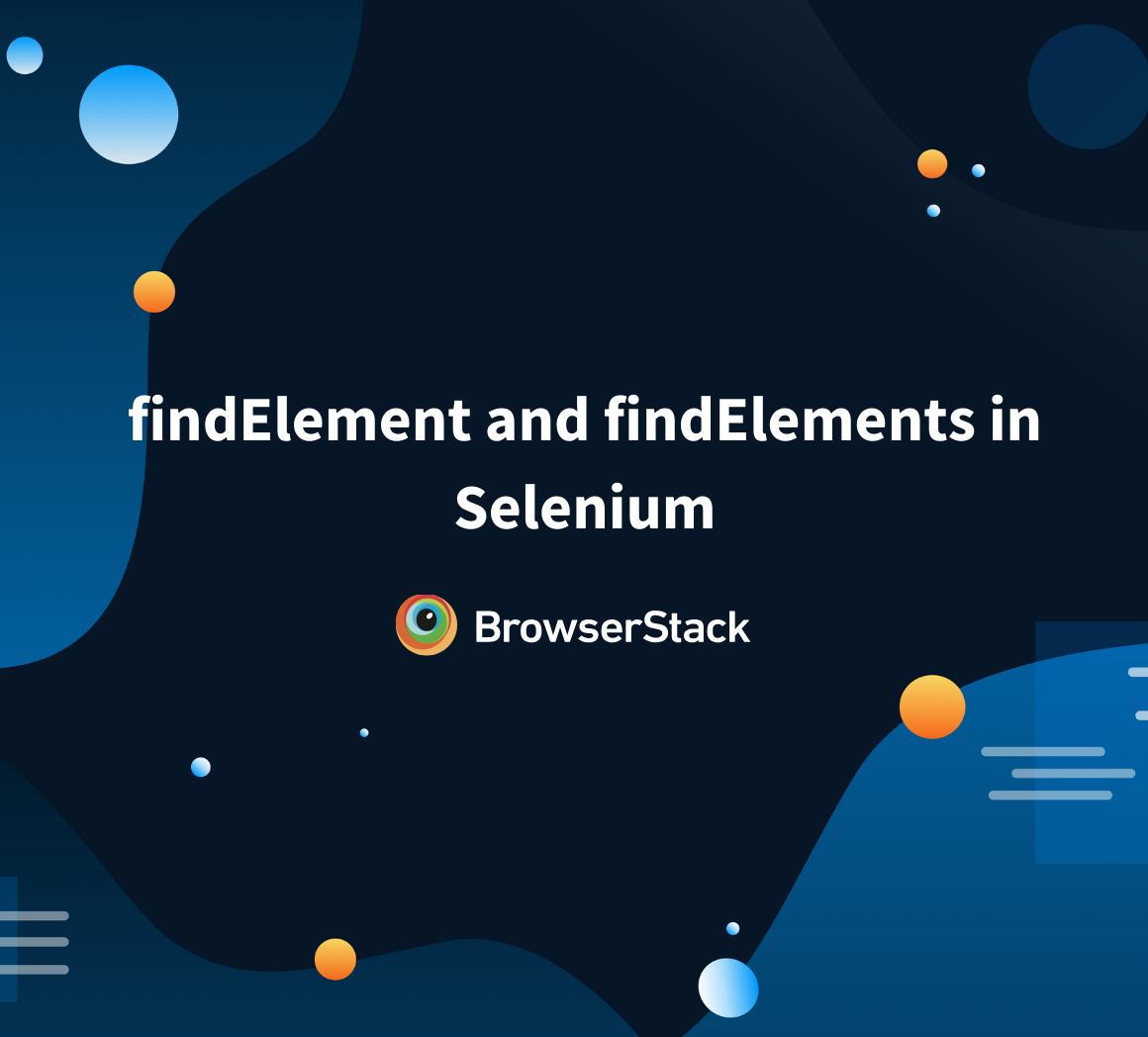 Find Element in Selenium