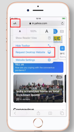 How to Request Desktop Site on iPhone