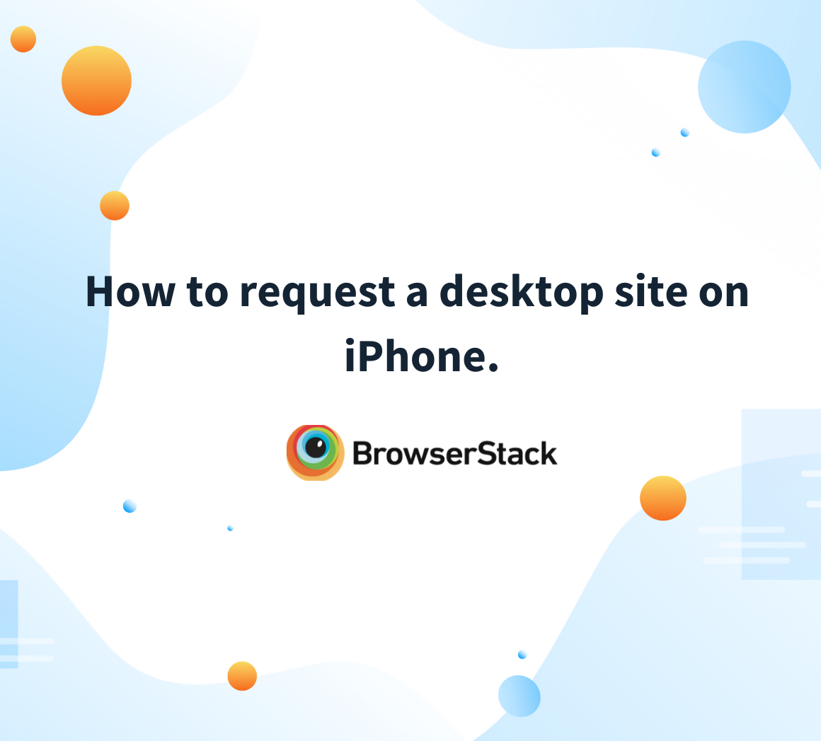 How to request a desktop site on the iPhone.