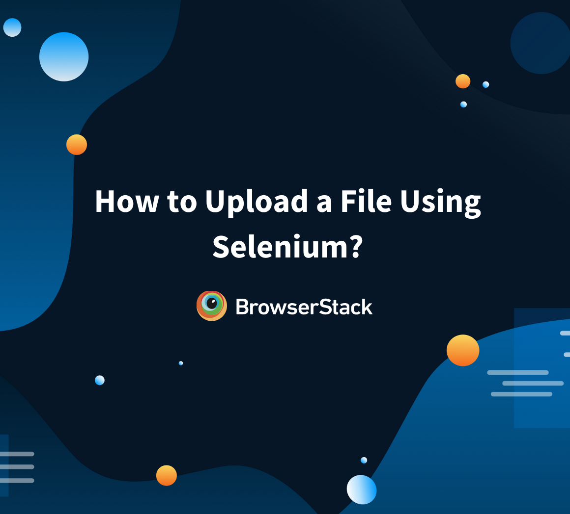 How to upload a file in Selenium