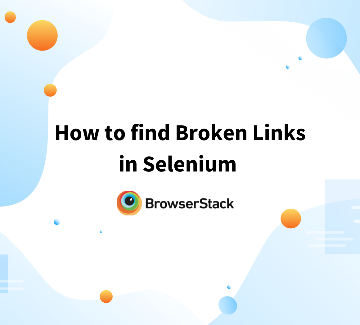How to find broken links in Selenum