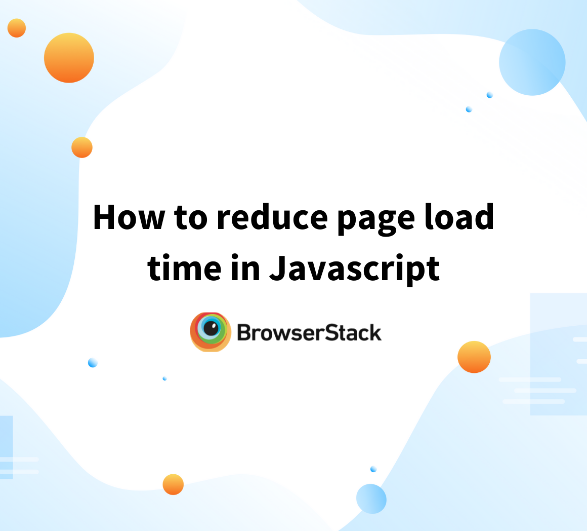 Reduce impact of Javascript on page speed