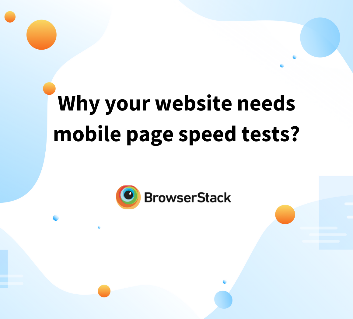 check page speeds on mobiles