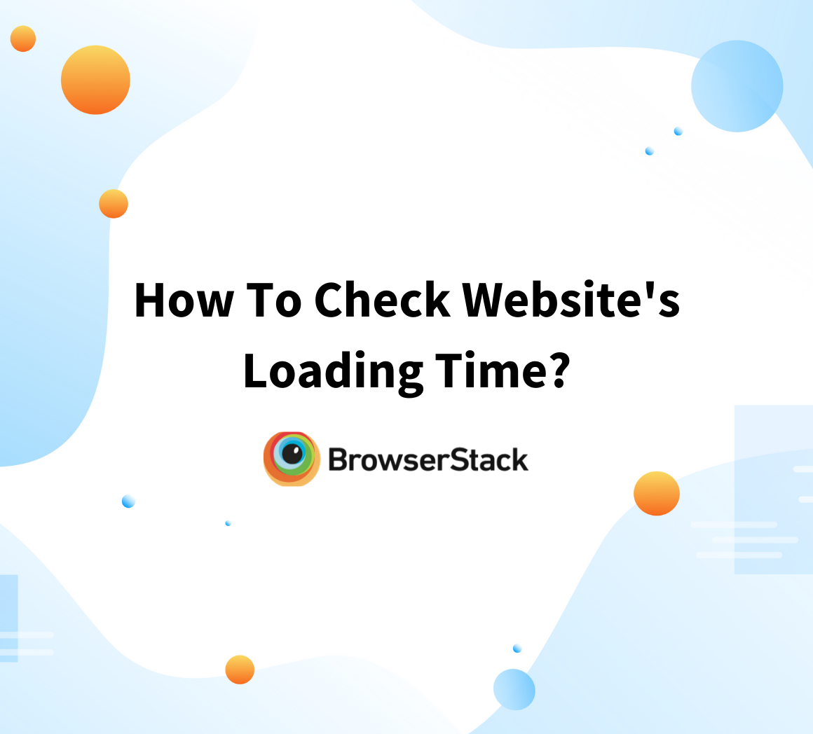 How to check website loading time