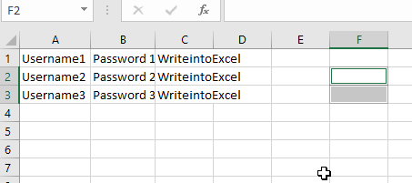 Reading data from excel - output