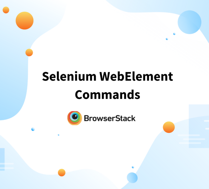 How to use WebElement commands in Selenium