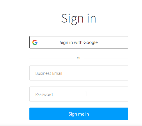 BrowserStack Sign in page