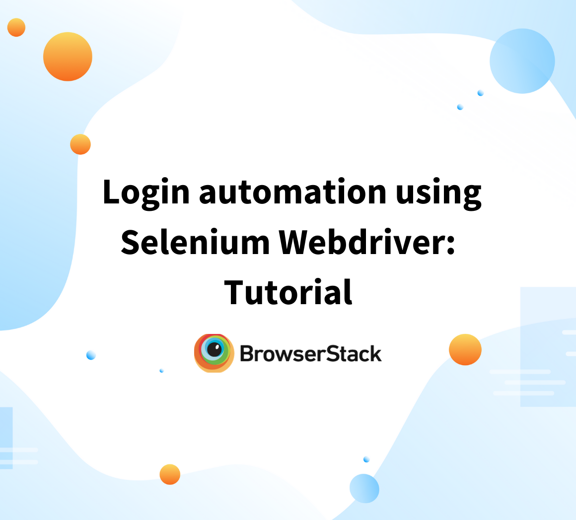 How to automation login with Selenium WebDriver