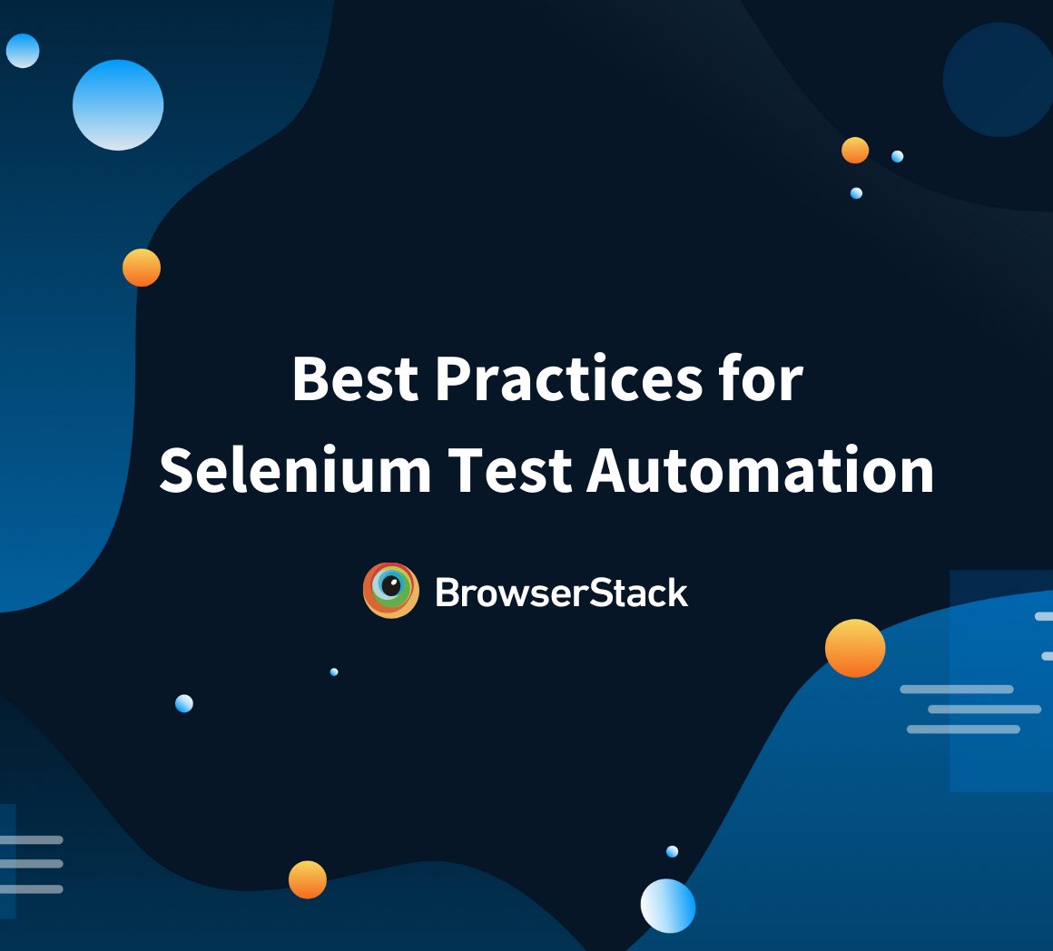 selenium best practices