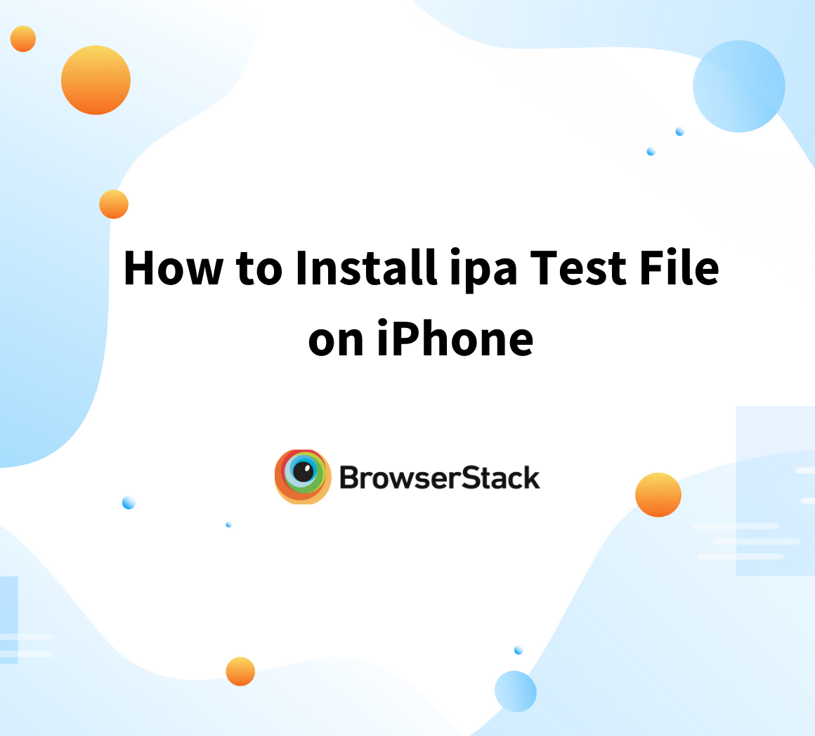 How to install ipa test file on iPhone