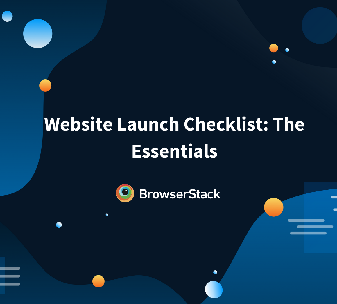 Checklist for launching websites