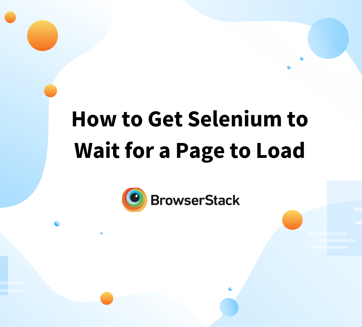 How to get Selenium to wait for a page to load